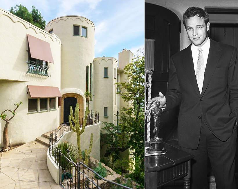Dom Marlona Brando w Hollywood Hills gwiazdor otrzymal Oskara w 1955 roku zdjecie