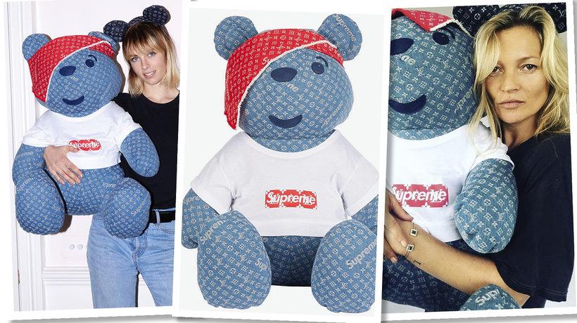 Dzień Pluszowego Misia Teddy Bear Supreme x Louis Vuitton Kate Moss