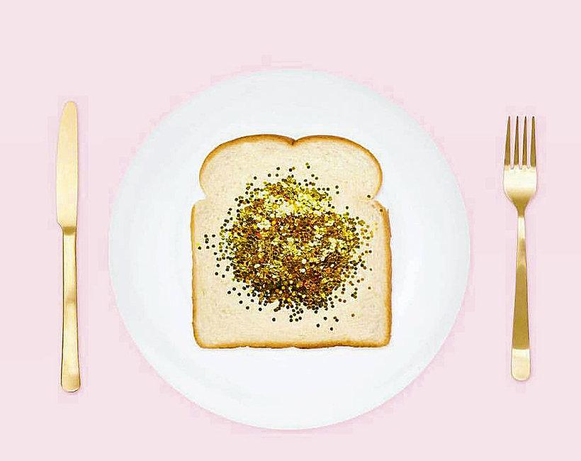 glitter food, brokatowe jedzenie