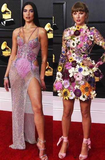 Grammy 2021 gwiazdy kreacje na czerwonym dywanie looki najlepszy do wyboru