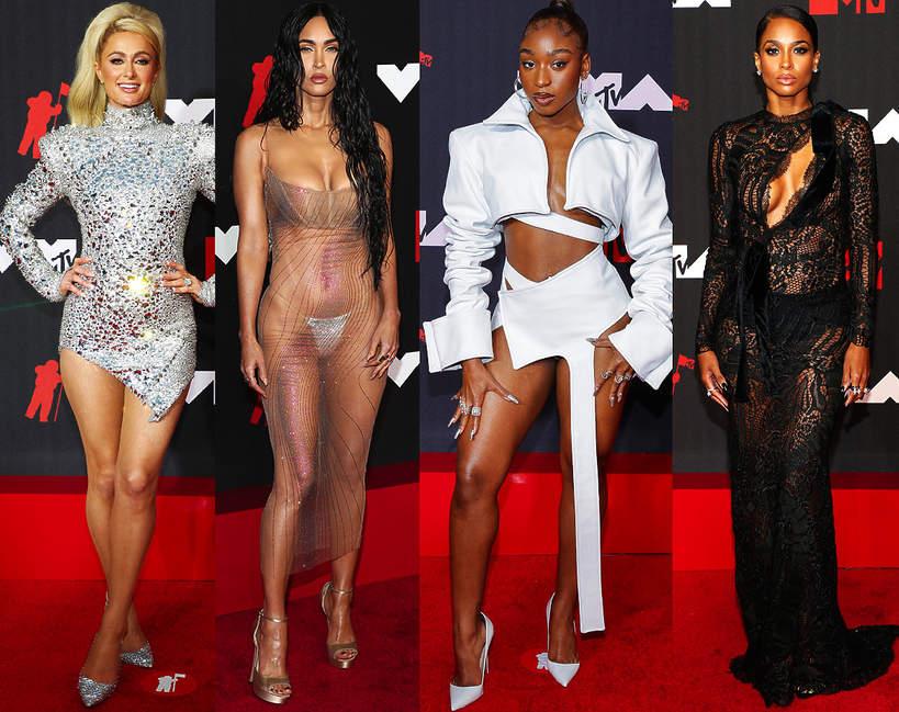 Gwiazdy na gali VMAs 2021 dywan looki