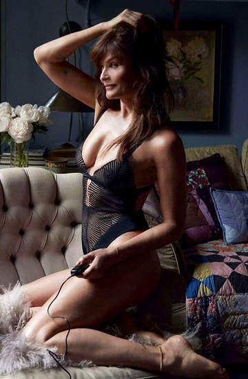 Helena Christensen w kampanii bielizny Coco de Mer kobieta bielizna modelka seksowna majtki trendy sexy