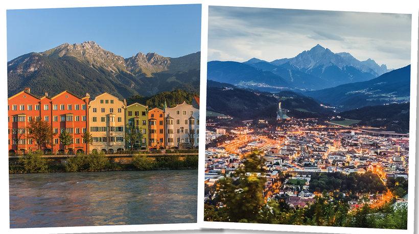 Innsbruck nad rzeką Inn