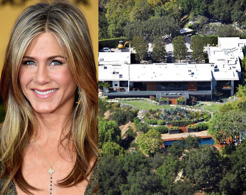 Jak wygladaja domy slynnych kobiet Jennifer Aniston willa