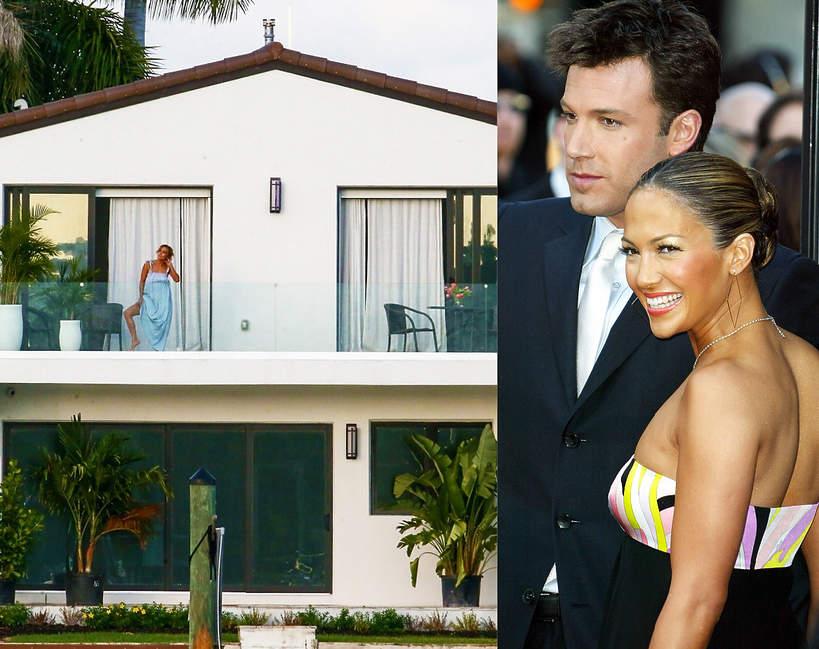 Jeniffer Lopez i Ben Affleck razem w Miami dom wnetrza 2021 para JLO rezydencja na balkonie milosc