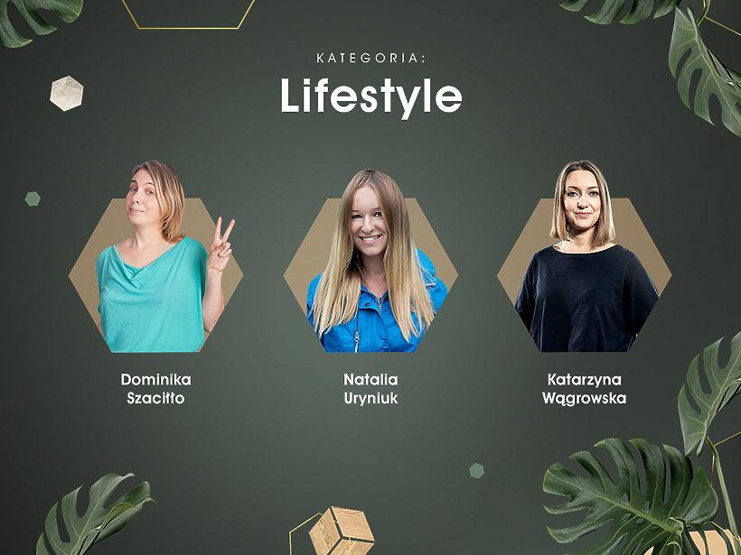 Kategoria Lifestyle, Dominika Szaciłło, Natalia Uryniuk, Katarzyna Wągrowska