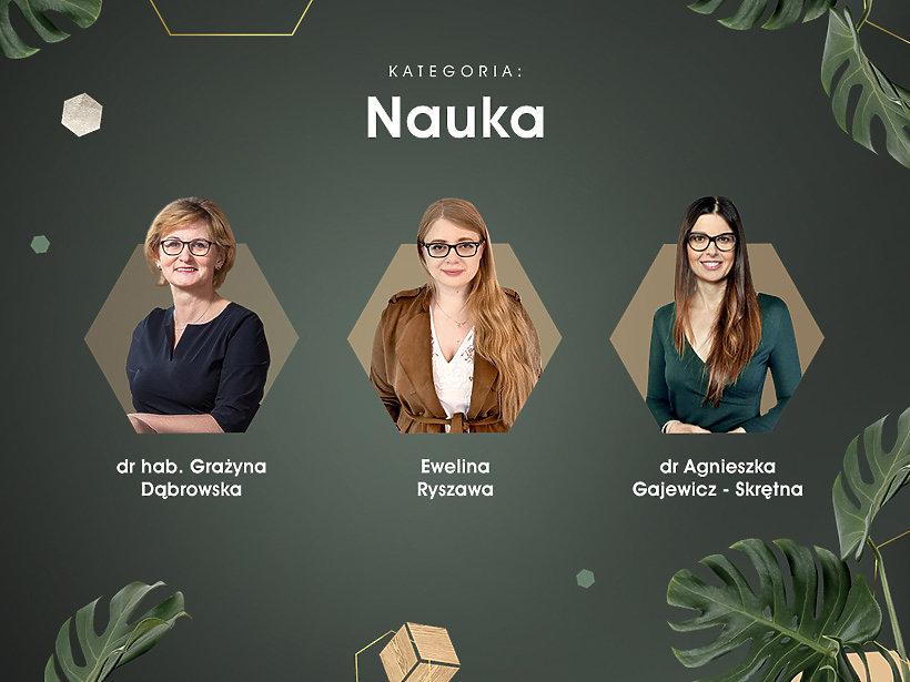 Kategoria Nauka, dr hab. Grażyna Dąbrowska, Ewelina Ryszawa, dr Agnieszka Gajewicz - Skrętna