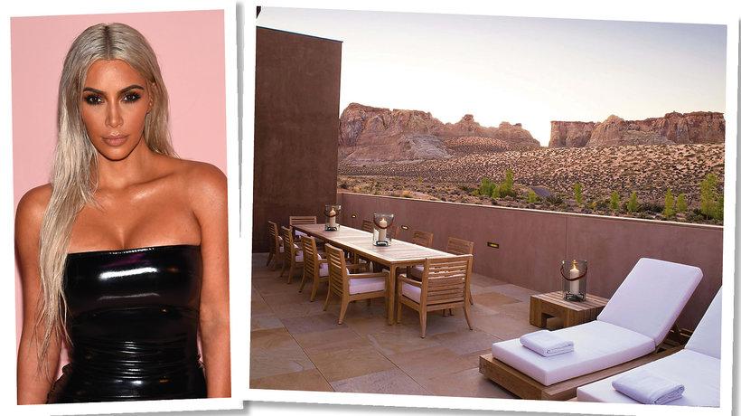 Kim Kardashian 37. urodziny spędziła w luksusowym resorcie Amangiri w Utah
