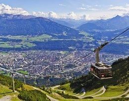 Koleją z Innsbrucku na Nordkette