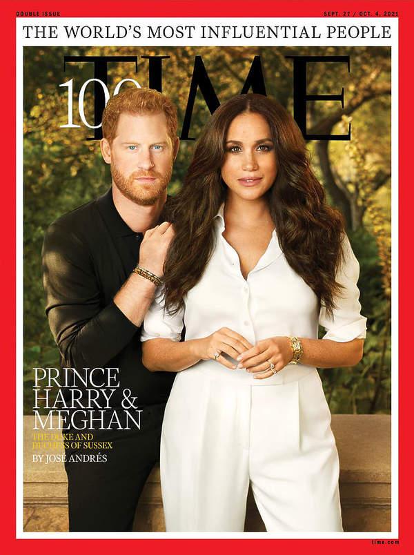 Książę Harry i ksieżna Meghan na okladce Time 2021 malzenstwo wplywowa para