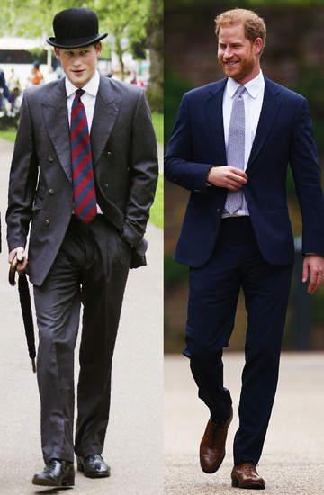 Książę Harry styl jak się ubiera metamorfozy garnitur