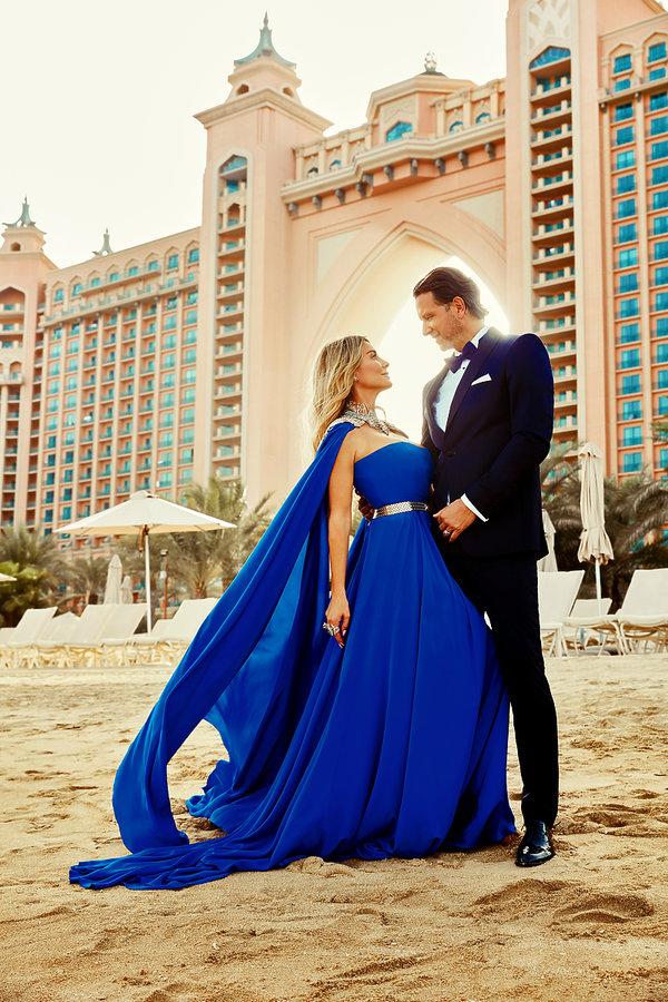 Małgorzata Rozenek-Majdan i Radosław Majdan w sesji dla VIVY! w hotelu Atlantis, The Palm