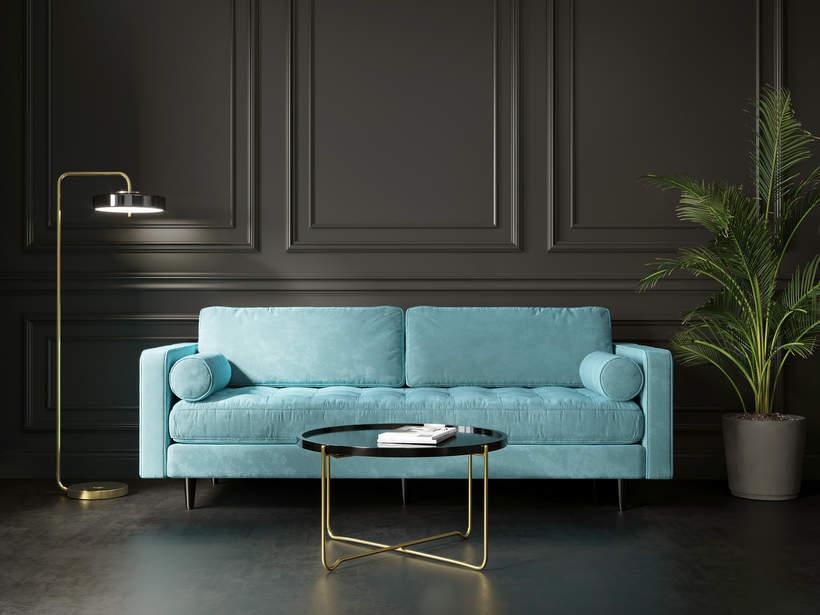 modne wnetrza 2021 trendy wnetrzarskie czy warto kupic welurowa sofe