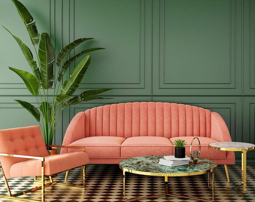 modne wnetrza 2021 trendy wnetrzarskie czy warto kupic welurowa sofe fotele pufy