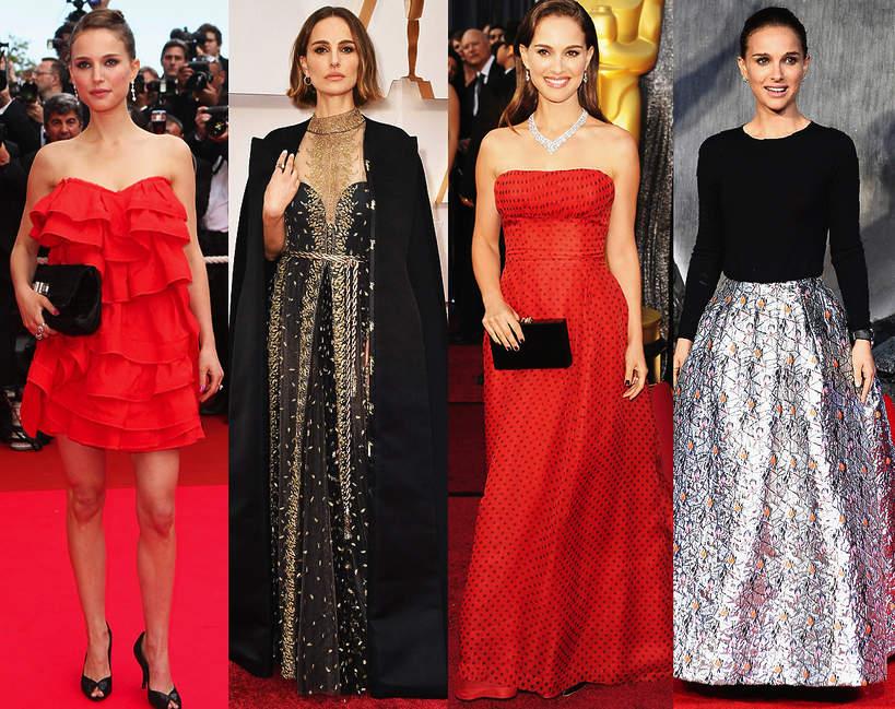 najlepsze stylizacje Natalie Portman suknia styl