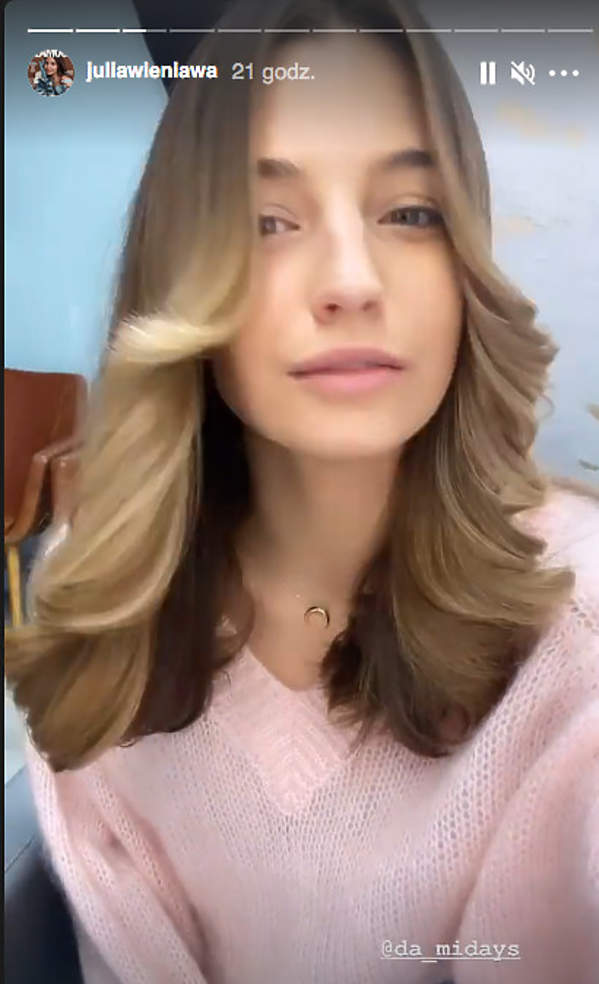 nowa fryzura Julii Wieniawy farrah fawcett