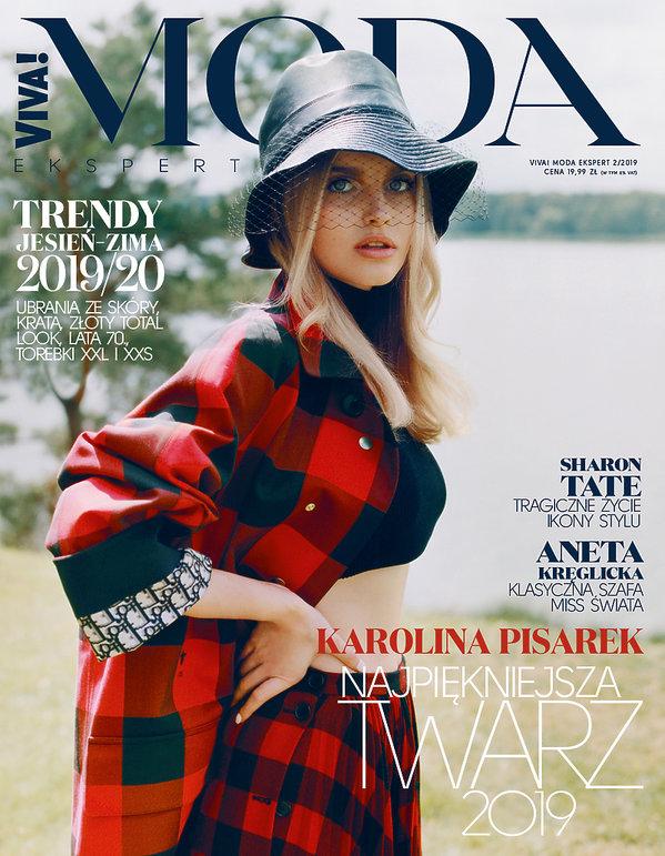 okładka VIVA!MODA, na zdjęciu Karolina Pisarek - numer na jesień 2019