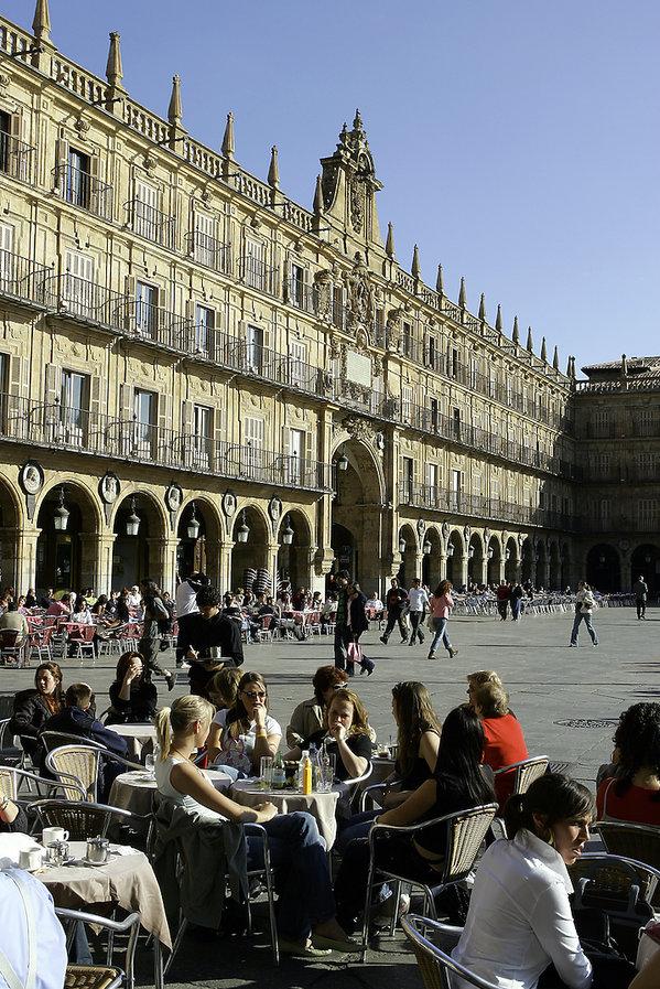 Plaza Mayor w Salamance
