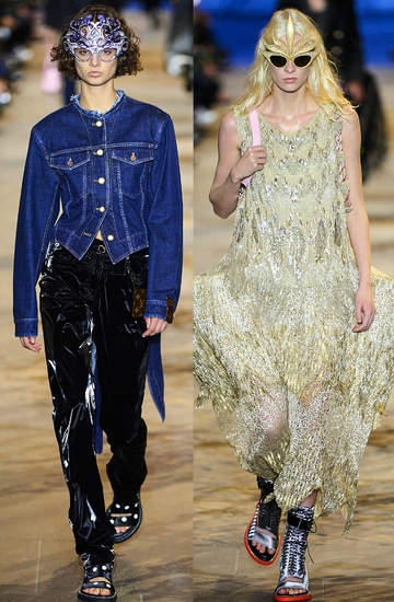 Pokaz mody Louis Vuitton na sezon wiosna lato 2022 trendy kolekcje z wybiegu fashion week sylwetki looki 1