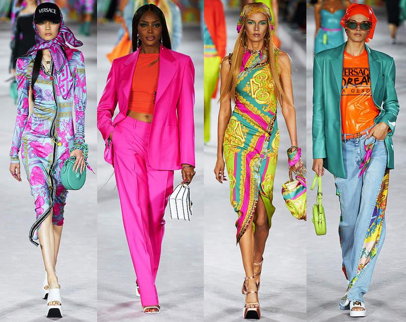Pokazy mody na sezon wiosna lato 2022 kolekcje trendy na wiosne 2022 moda pokaz Versace 2