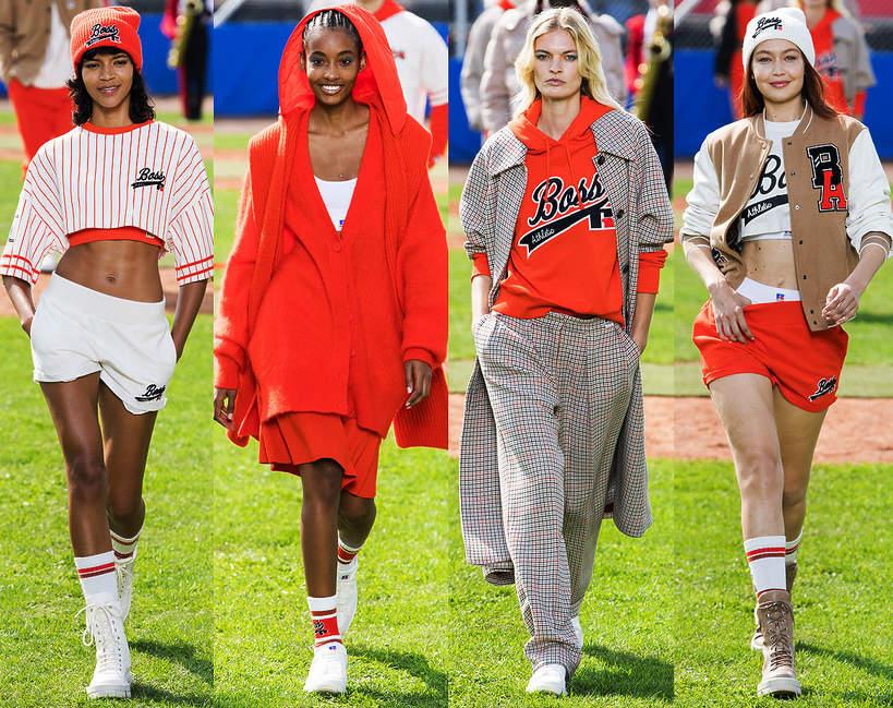 pokazy mody wiosna lato 2022 Hugo Boss sylwetki trendy