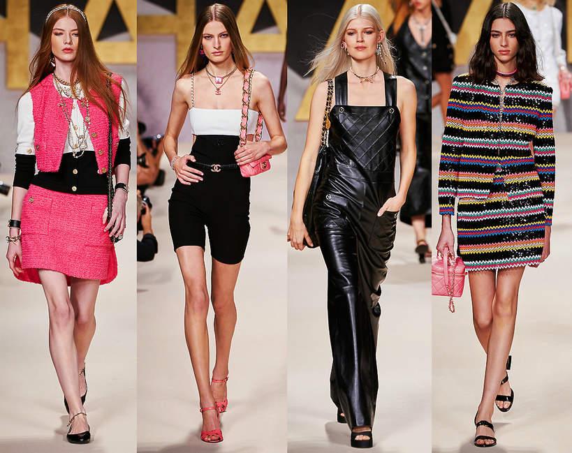Pokazy mody wiosna lato 2022 kolekcja Chanel sylwetki z wybiegu trendy stylizacje