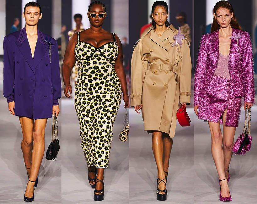 Pokazy mody wiosna lato 2022 kolekcja Lanvin sylwetki z wybiegu trendy stylizacje