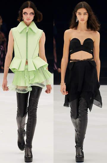 Pokazy mody wiosna lato 2022 kolekcje trendy moda Givenchy sylwetki z pokazu stylizacje