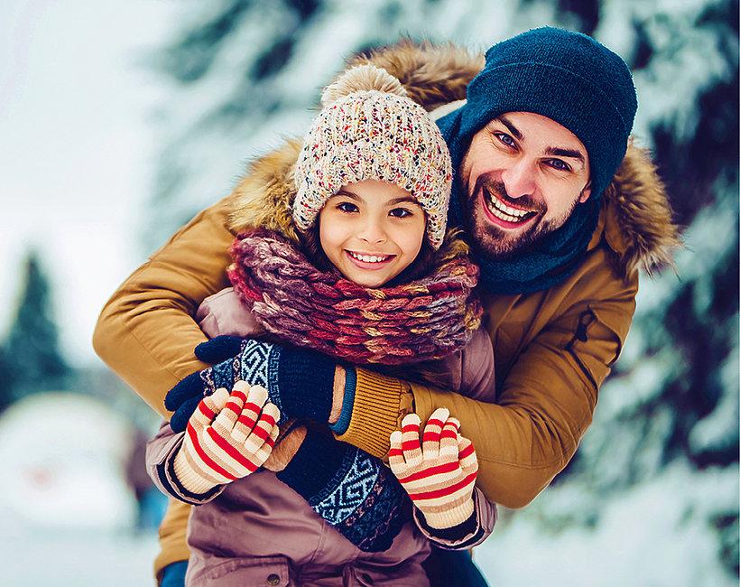 Rodzina na śniegu T-mobile