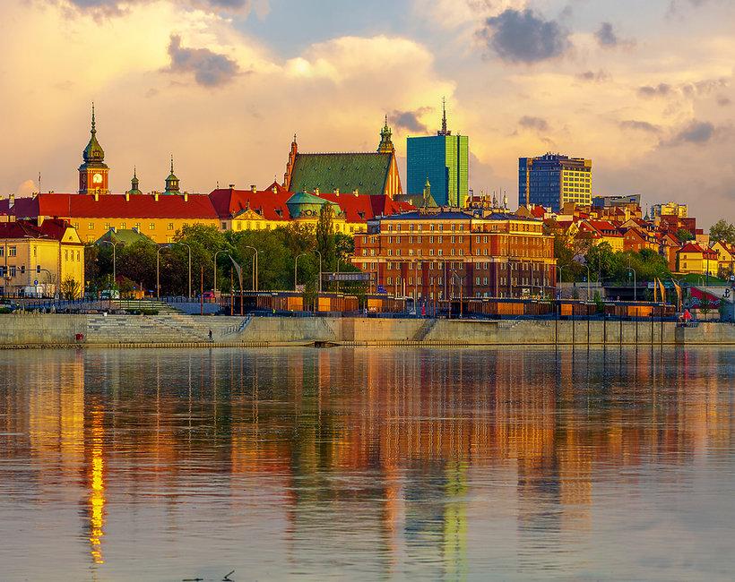 Sezon wiosna lato nad Wisłą w Warszawie