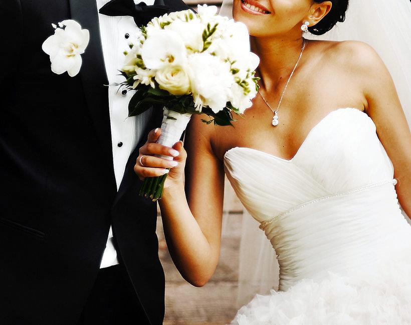 ślub, młoda para, małżeństwo