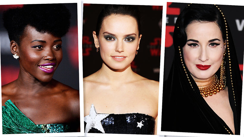 """Sofia Vergara, Dita von Teese i Lupita Nyong'o - oto najlepsze looki na światowej premierze najnowszych """"Gwiezdnych wojen""""!"""