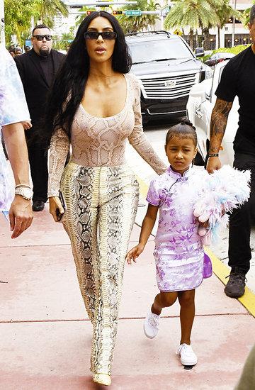 Styl glamour Kim Kardashian i małej North West