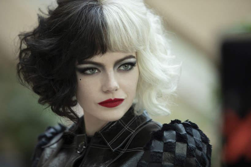 stylizacje i makijaze w filmie Cruella z emma stone makijaz