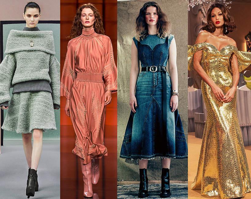 Trendy moda jesien zima 2021 2022 wybiegi ubrania projektanci podsumowanie