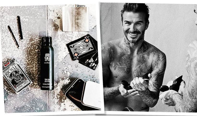 David Beckham i jego kosmetyki