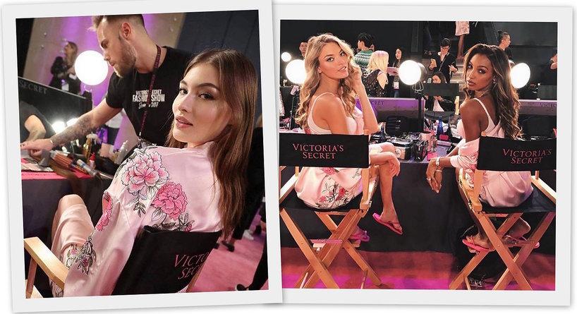 Fryzury, makijaże i manicure z pokazu Victoria's Secret x Balmain 2017!