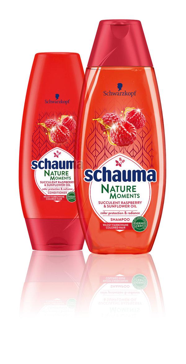 Szampon i odzywka chroniące kolor włosów Nature Moments, SHAUMA,  10,99 zł i 7,79 zł