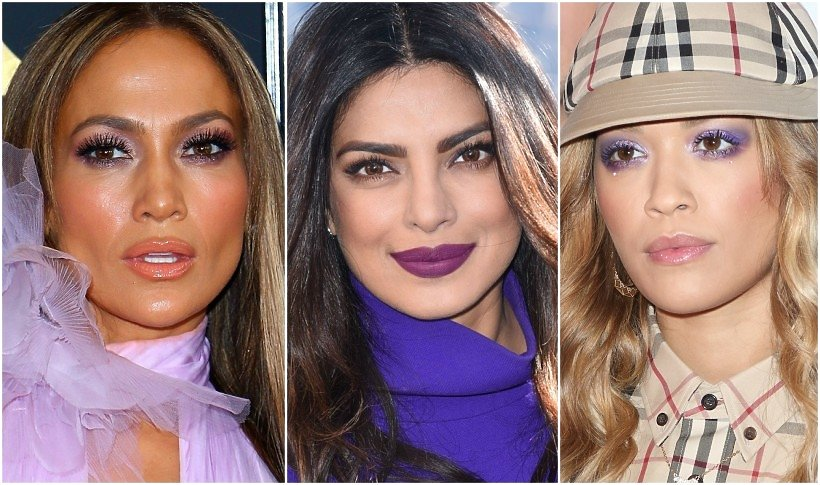 Gwiazdy w fioletowym makijażu