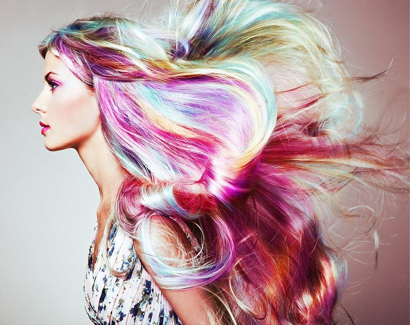horoskop fryzury, kolorowe włosy