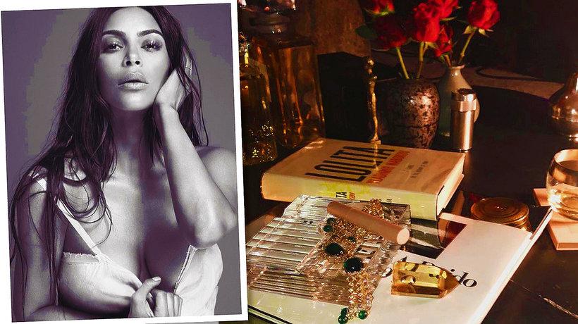Kim Kardashian z kampanii perfum oraz opakowanie perfum KKW