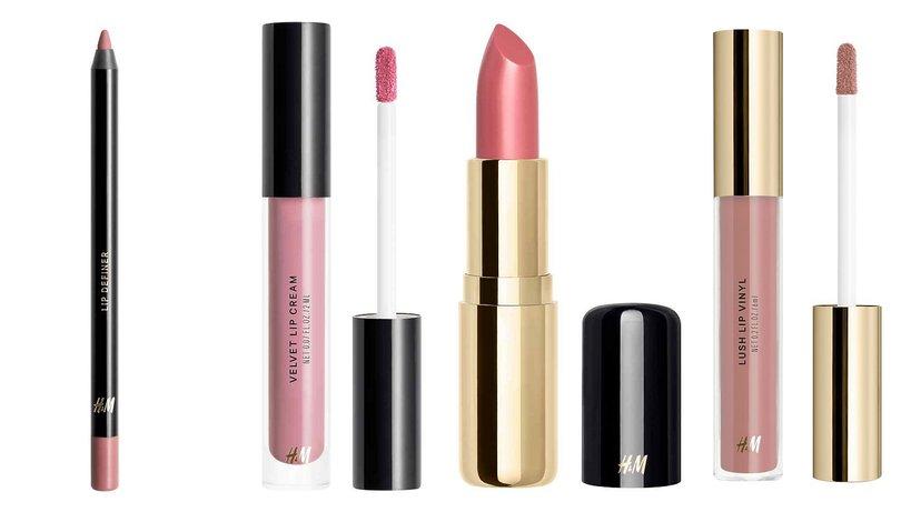 konturowanie, róż bronzer puder podkład tusz eyeliner rzęsy paleta do oczu szminki błyszczyki h&m