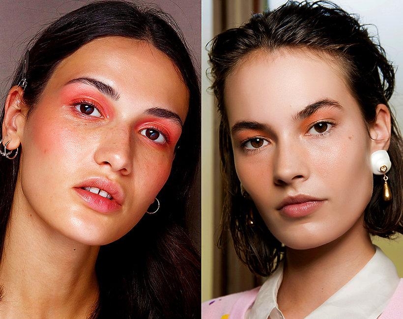 Makijaż oczu trensy wiosna lato 2019 - modne kolory