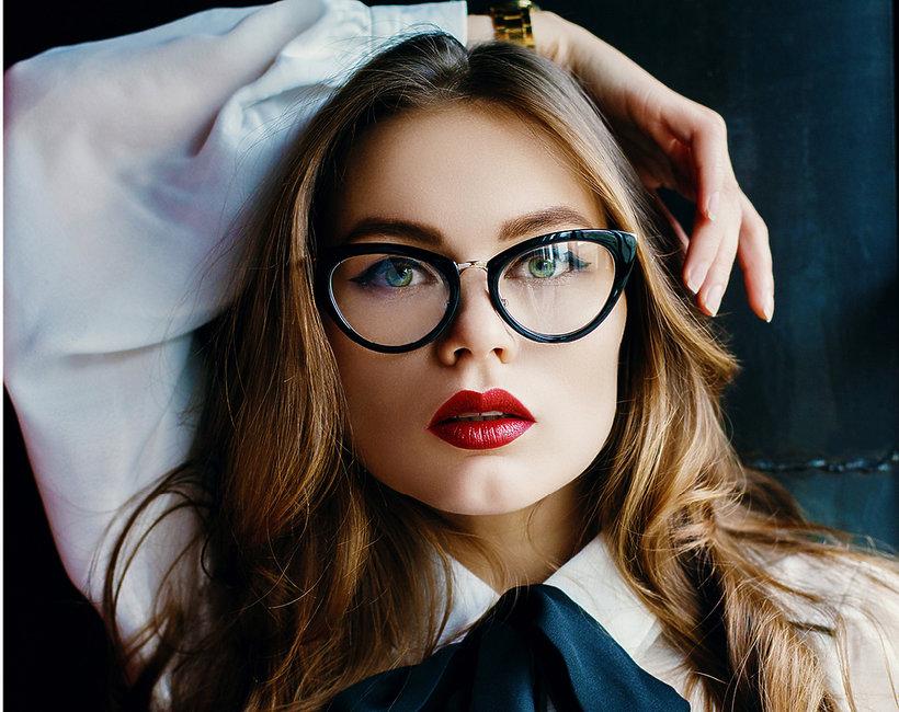 makijaż okulary