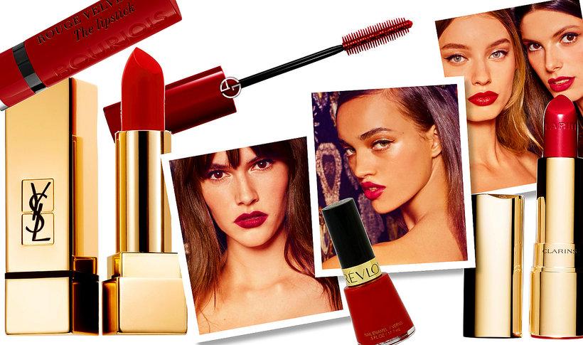 5 sposobów na czerwień w makijażu: czerwone szminki, lakiery, cienie, eyelinery