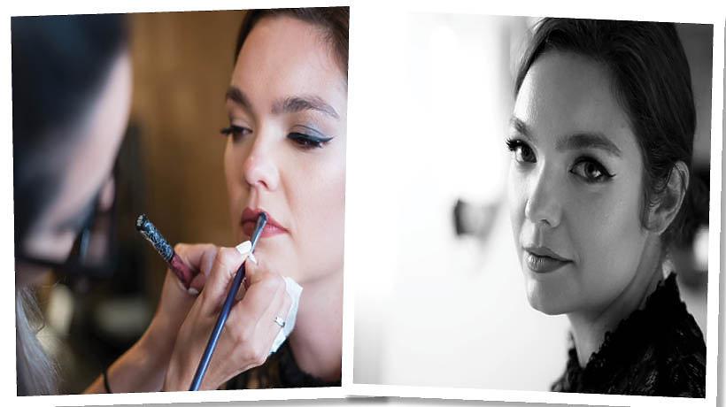 Dziennikarka Marta Cieplak przed i po makijażu wykonanym kosmetykami Kat Von D Beauty