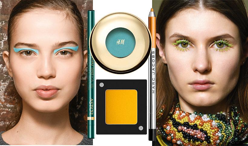 Kolorowe makijaże na jesień 2017