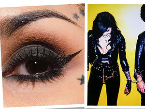 Makijaż oka Kat Von, D, Kat Von D i Billie Joe Armstrong i ich wspólny eyeliner