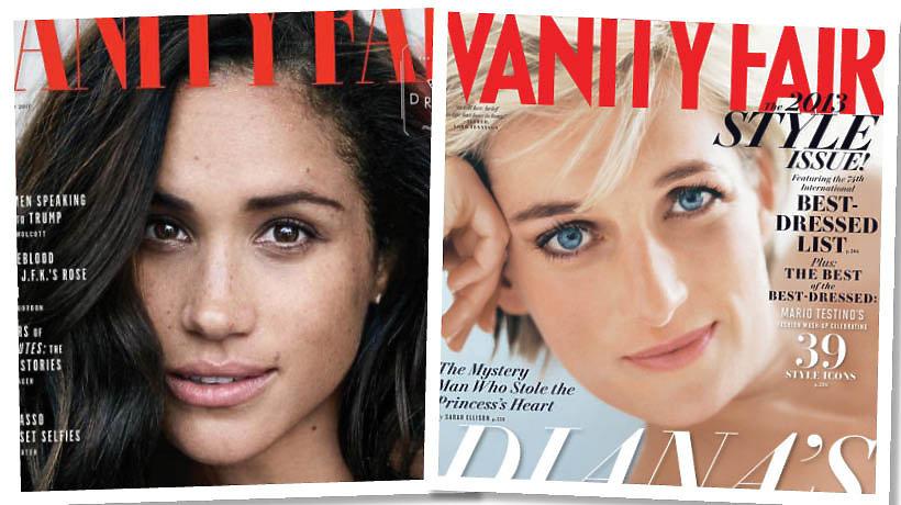 Meghan Markle i księżna Diana na okładkach Vanity Fair