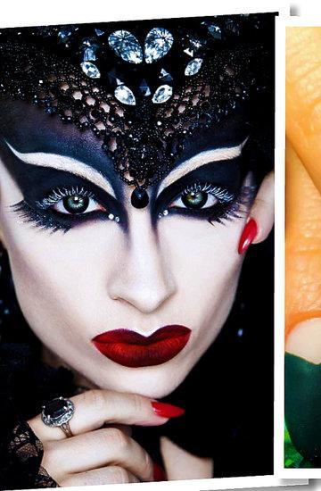 najlepszy makijaż na halloween, paznokcie na halloween, usta na halloween